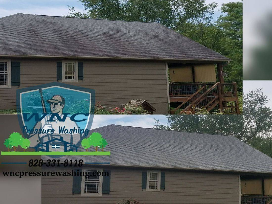 Cashiers NC Roof Wash and Moss Removal, WNC Pressure Washing, pressure washing, pressure washing waynesville, pressure washing asheville, roof cleaning, soft washing