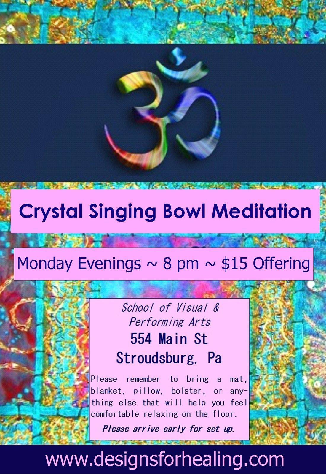 Designs for Health Bowl Meditation Crystal Stroudsburg Pensylvania