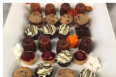 Assorted mini desserts and tartlets by ARISTA
