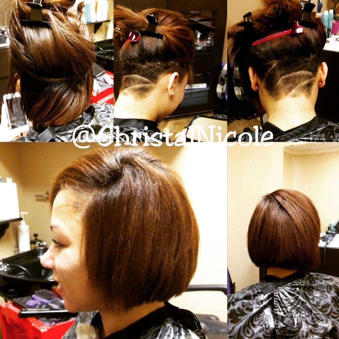 bob haircut with undercut