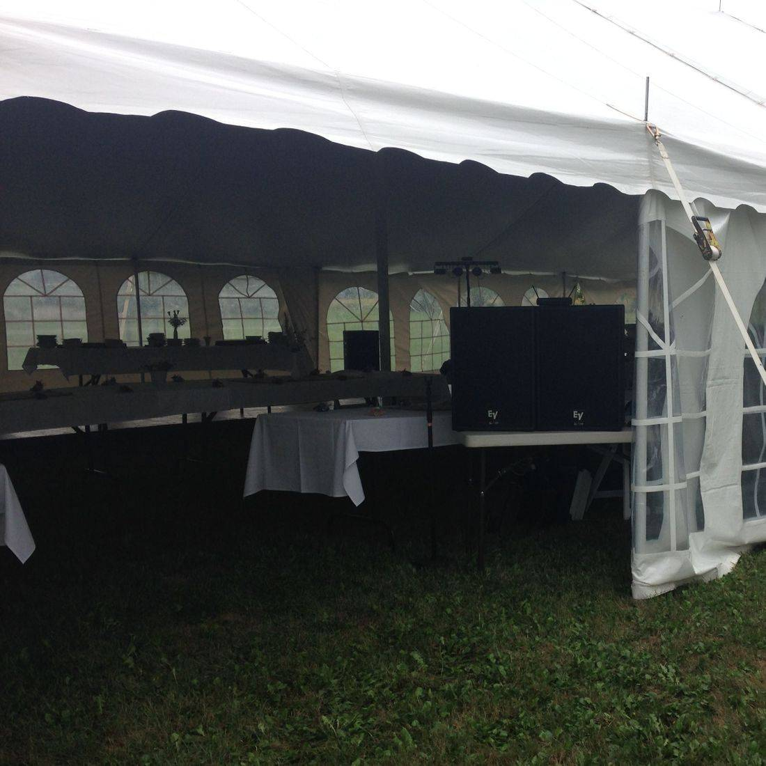 Mr. Productions DJ Service providing outdoor Wedding DJ Services in the Hamilton area.