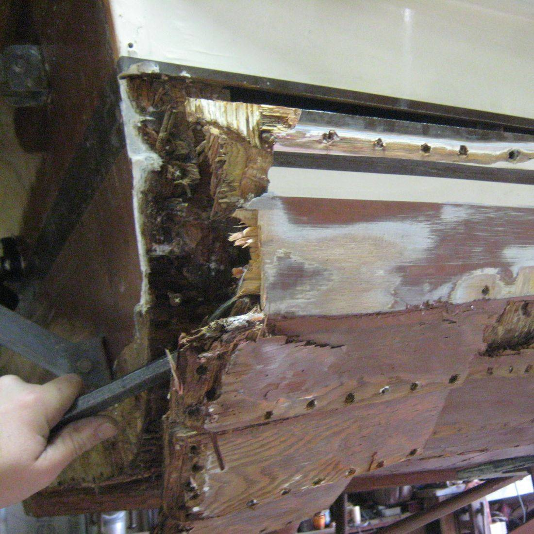 Bergersen Boat Co. fixing rot