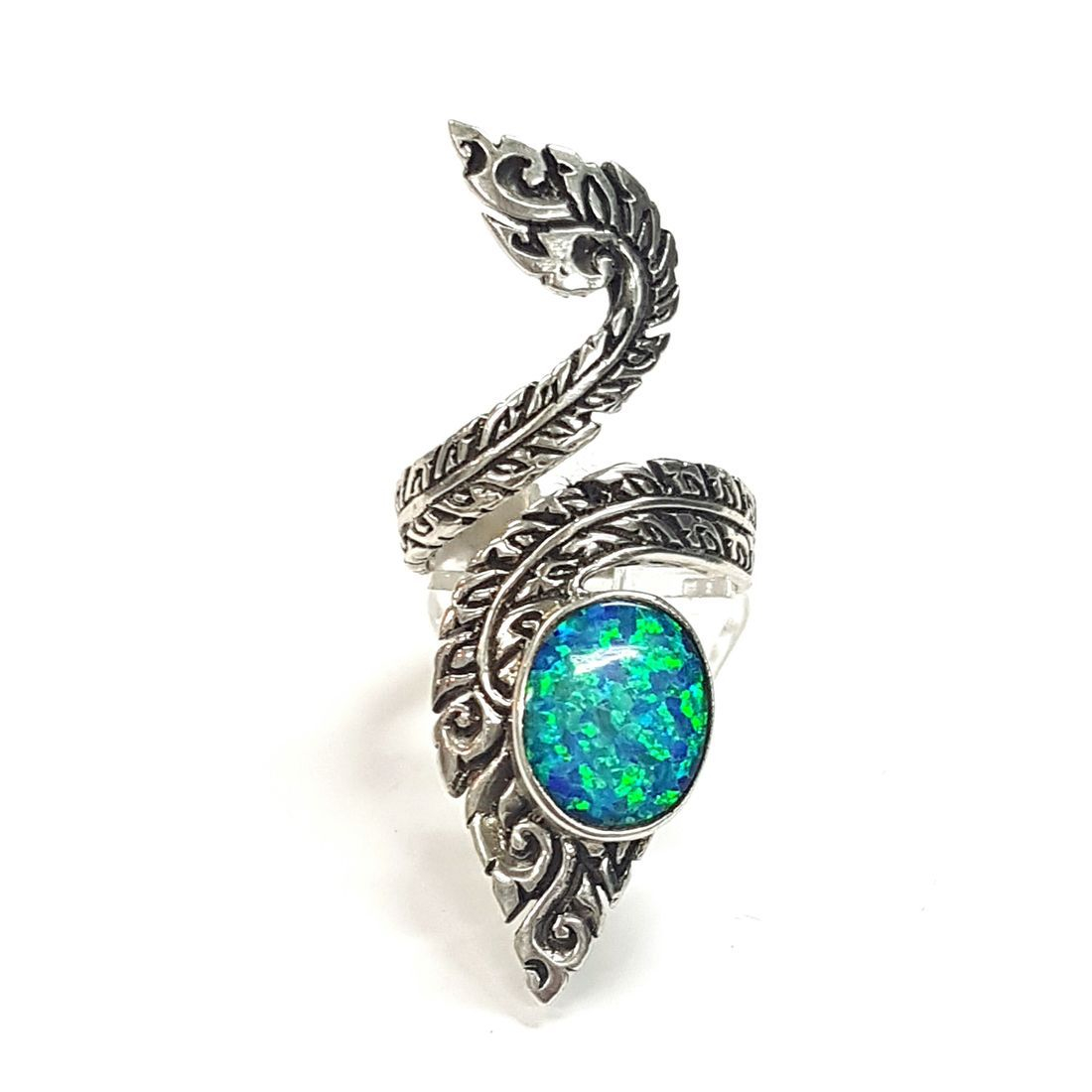 Ornate Opal Ring (size O 1/2)  available at Kazbah online and our Leicester City Centre shop