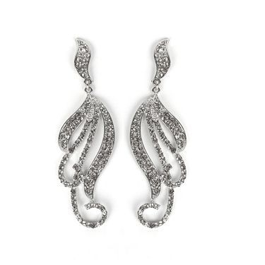 Mariell's curling vines statement earrings have 100's of fiery pave crystals to make sure your prom, wedding, homecoming or special event is smokin' hot!