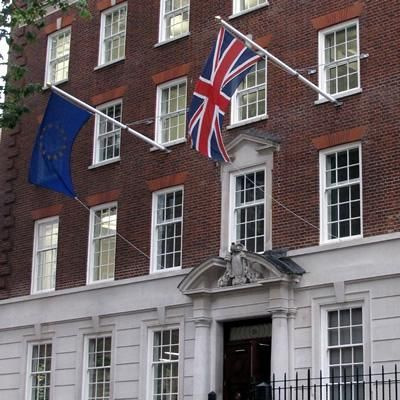 Europe House London Flags