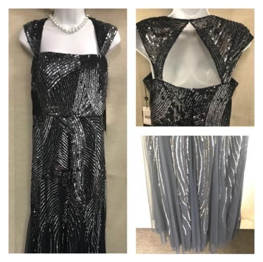 resale, consignment, new, sequins, beads, evening gown, mother of the bride, mother of the groom