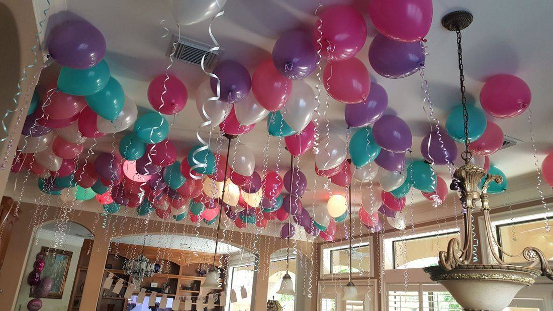 Helium Balloons, Ceiling Balloons, Balloons, Infante Creations, Houston TX, Balloon Delivery
