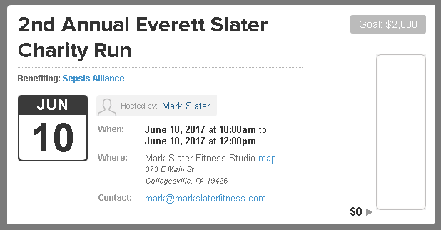 Everett Slater Charity Run