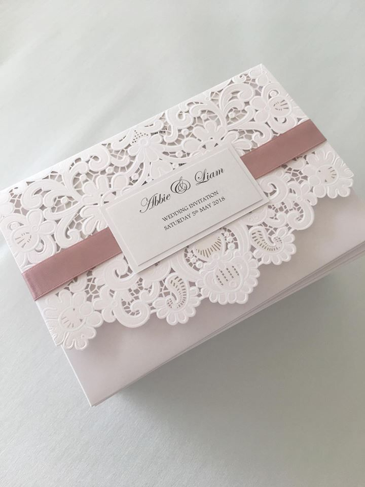 Lace lasercut wedding invitations, wedding invitations