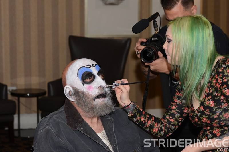 sid haid spaulding devils rejects rob zombie makeup artist behind the scenes clown serial killers makeup artist