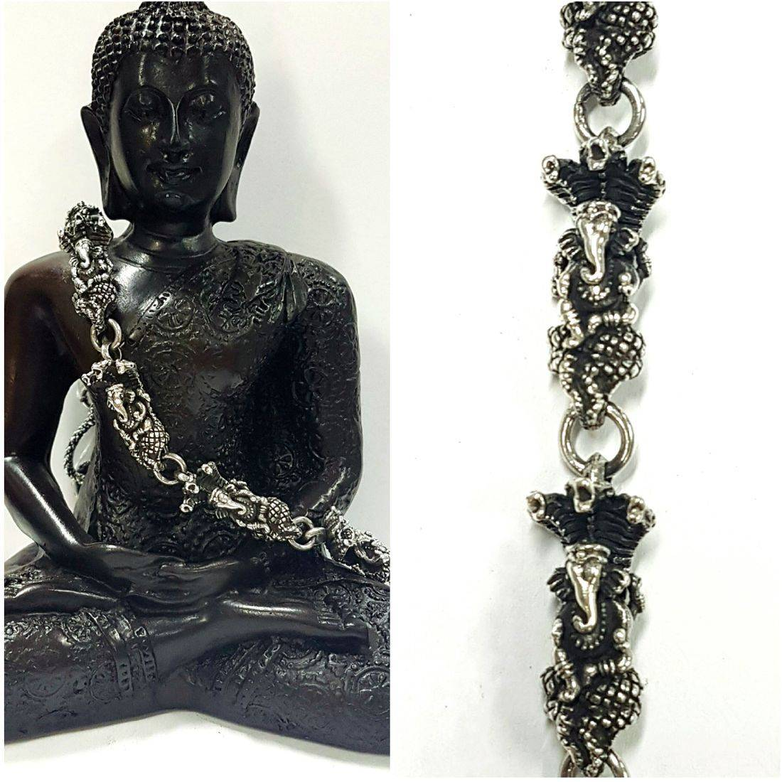 Solid Silver Ganesh Bracelet  available at Kazbah online and our Leicester City Centre Shop