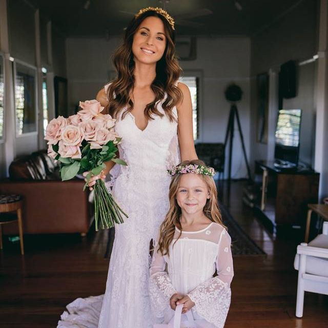 Kate and her sweet flower girl