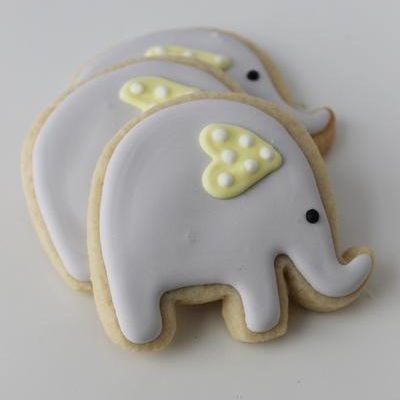 Baby Elephant Whimsical Cookies Milwaukee