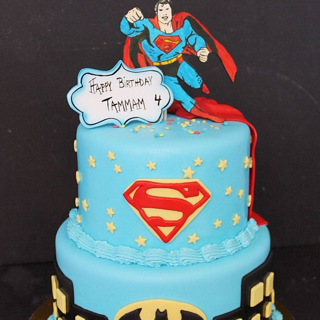 Custom Superman Batman Cake  Milwaukee