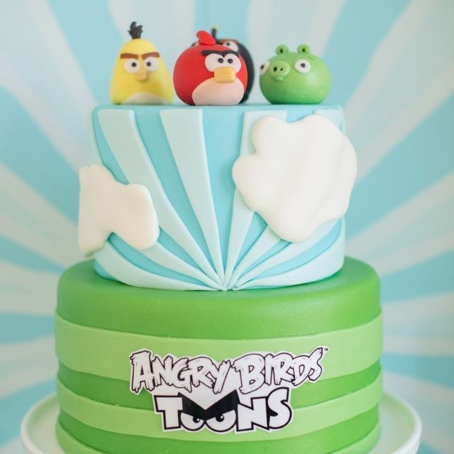 Custom Angry Birds Cake  Milwaukee