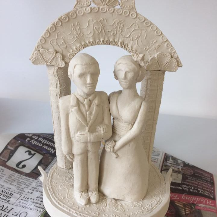 Bespoke Wedding Cake Toppers handmade at Coed Weddings
