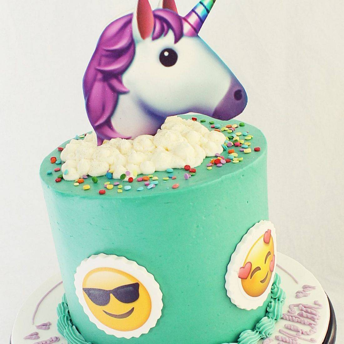 Unicorn Emoji stylized cakes milwaukee