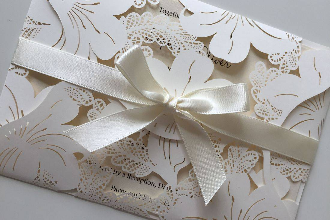 lace lasercut invitation, wedding invitations, luxury wedding invitations