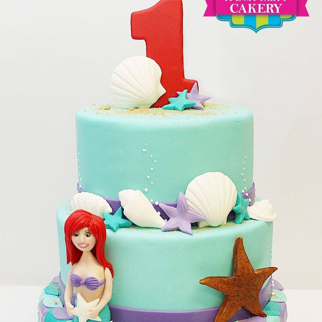 Custom  Ariel Under the sea starfish fish scales Cake  Milwaukee
