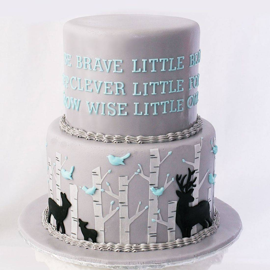 Custom Baby Deer Shower Cake  Milwaukee