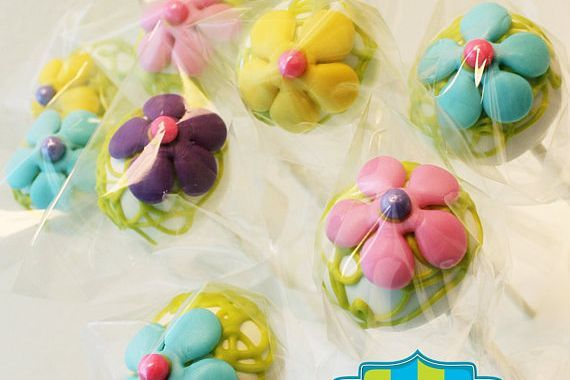 Flower Power Cake pops Custom cakepopsStars New Year Cake pops