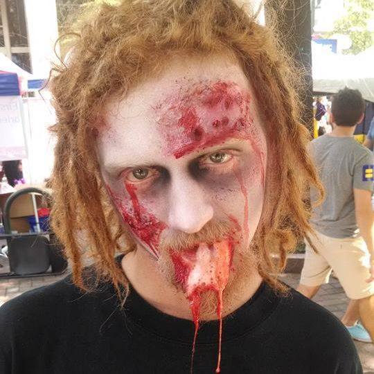 zombie walking dead makeup halloween makeup gore horror film vomit dead got dead