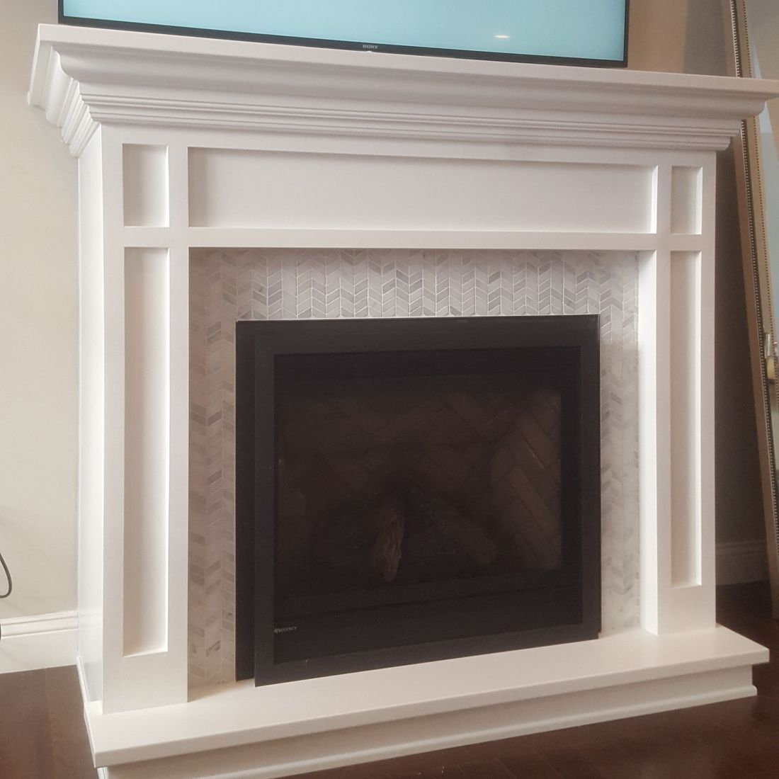 zero clearance fireplace enclosure