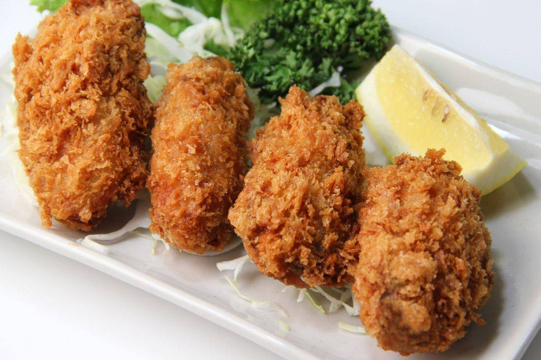This is our Cajun Oven Fried Oyster