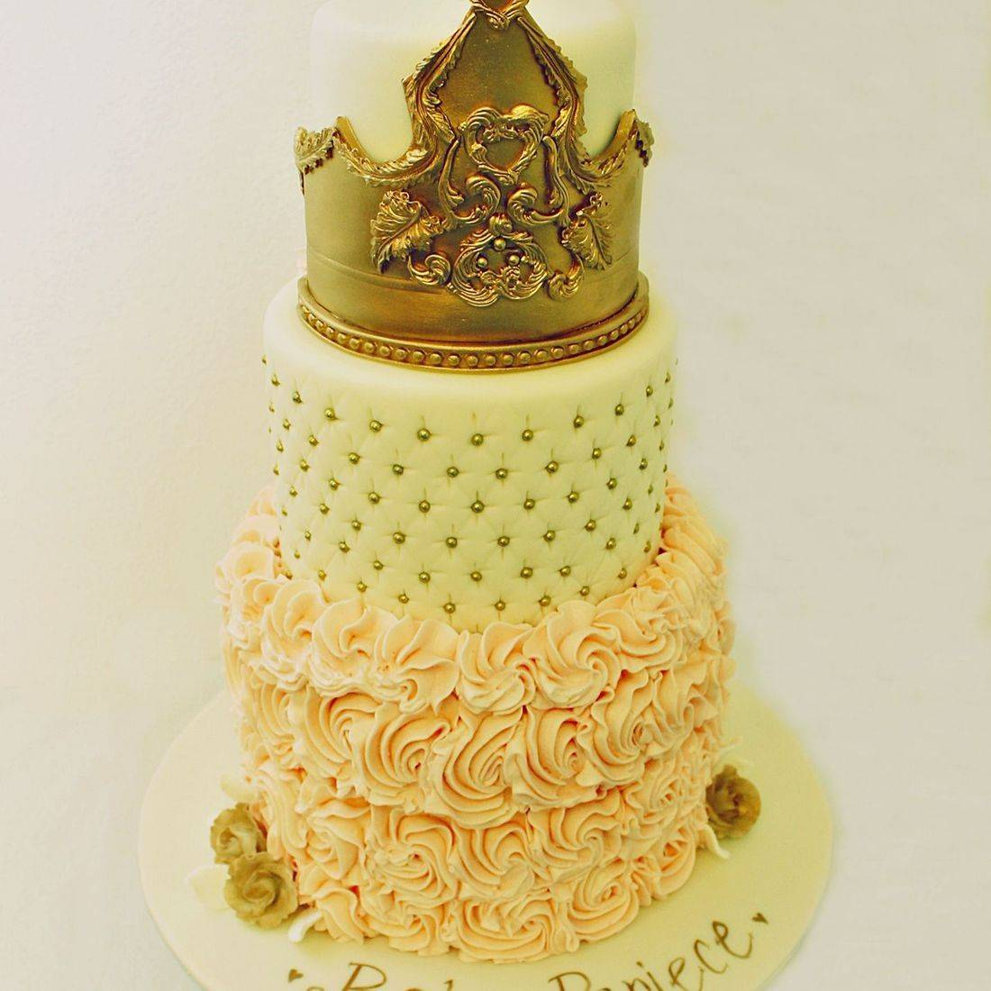 Custom Crown Rosettes Cake Milwaukee