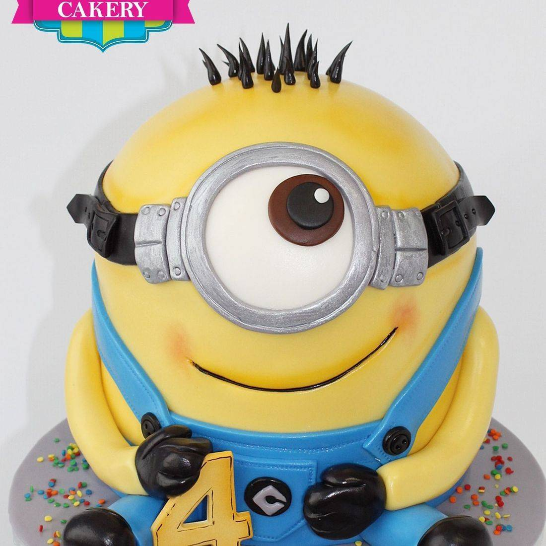Little Man Minion  Carved Dimensional Cake Milwaukee