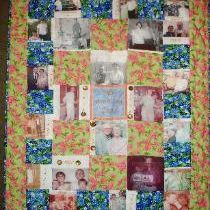 Custom Made photograph quilt