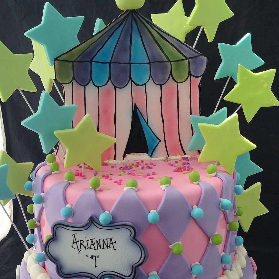Custom Circus Tent Cake  Milwaukee