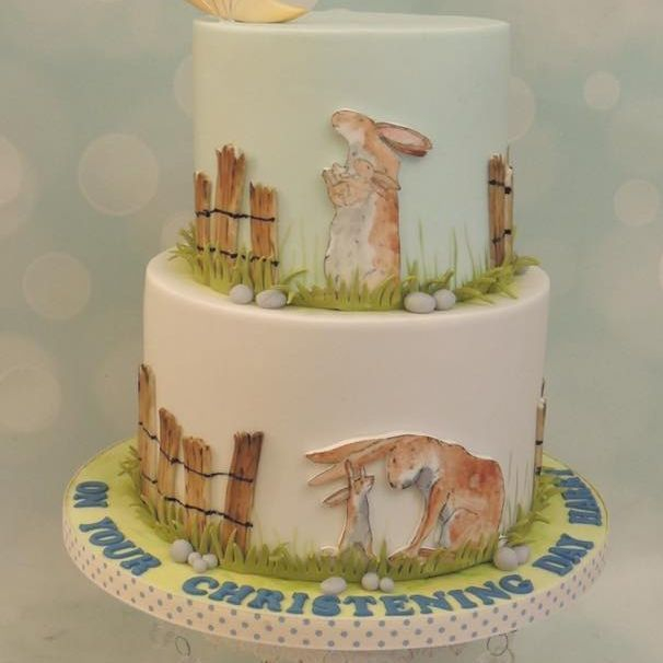 Much Love You Christening Birthday Celebration Baby Shower Cake Hare Nutbrown