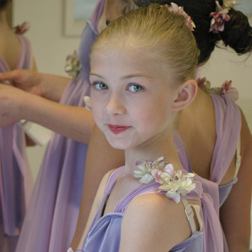 Sweet dancer in our ballet studio, costume try on class is the most fun!  :)