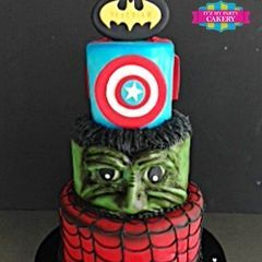 Custom Superhero batman captain america hulk spiderman Cake Milwaukee