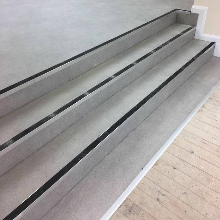 Commercial Vinyl and safety Bars fitted on steps