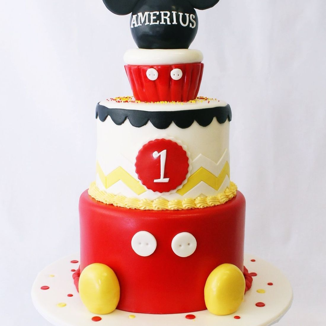 Custom Mickey Mouse Cupcake Cake  Milwaukee