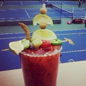 Bloody mary is served at our full liquor bar catering