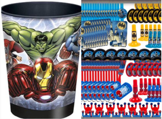 Super Hero cup with toys