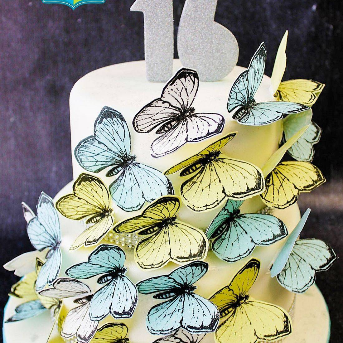 Custom Butterfly Cascade Cake  Milwaukee