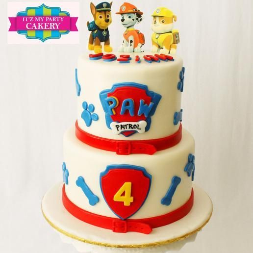 Custom Paw Patrol Cake Milwaukee