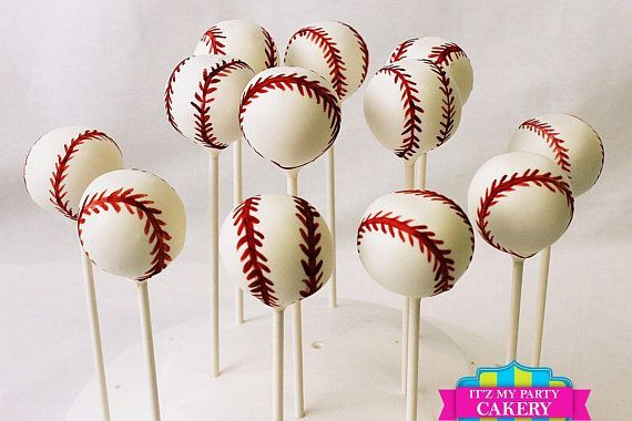 Baseball Cake pops Custom cakepopsStars New Year Cake pops