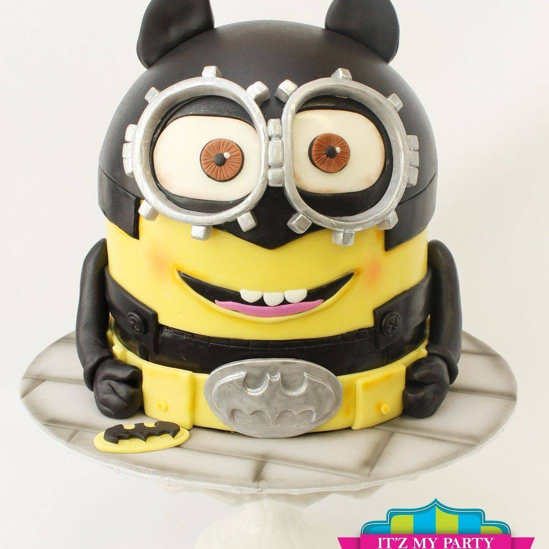 Batman MInion Cake Carved Dimensional Cake Milwaukee