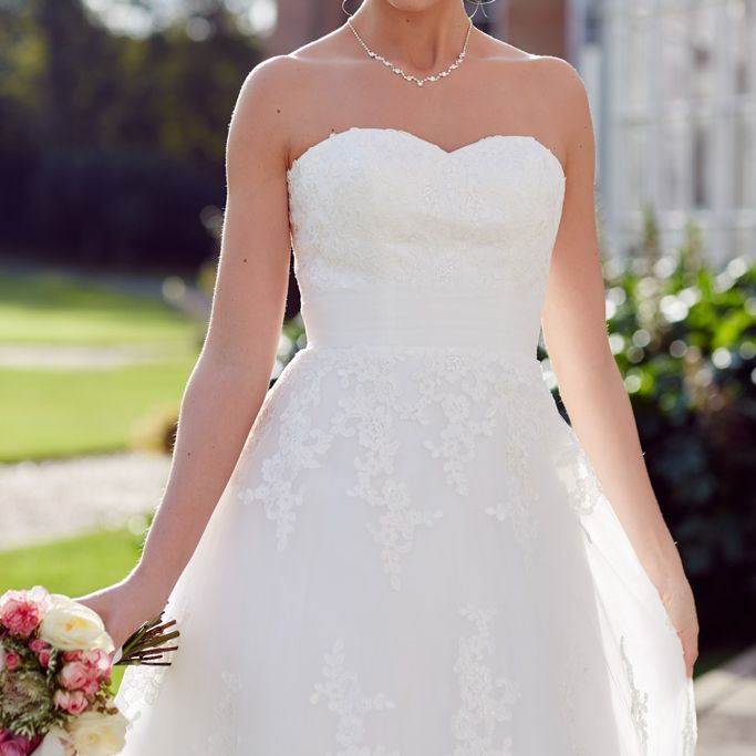 Long or short all lace wedding dress