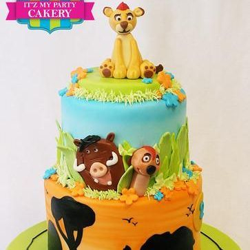 Custom  Lion King Jungle Cake  Milwaukee
