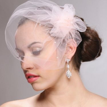 Swarovski Crystal Birdcage Veil is handmade in the USA with the finest quality bridal illusion.