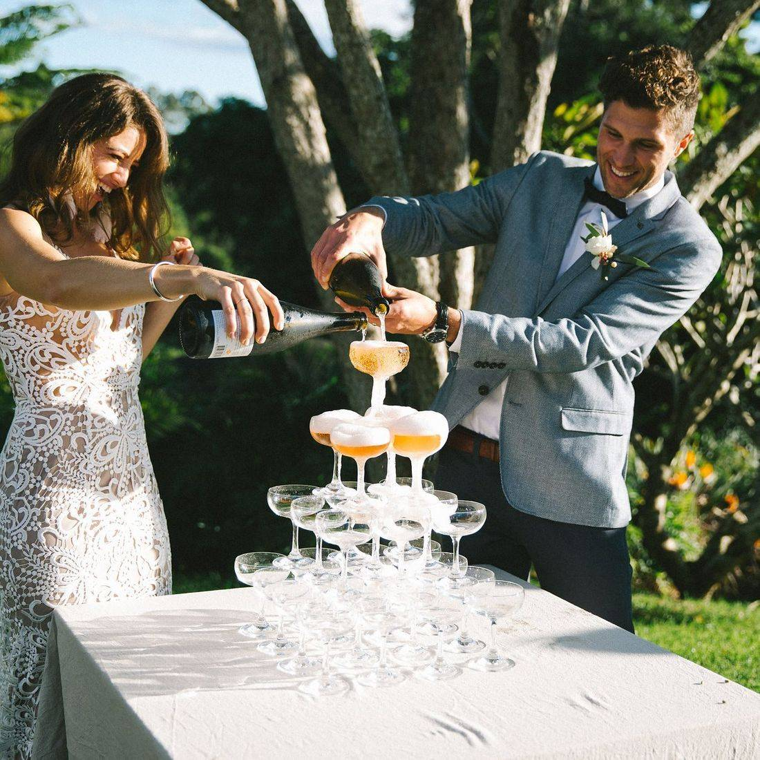 Champagne Tower for Alice and Joel