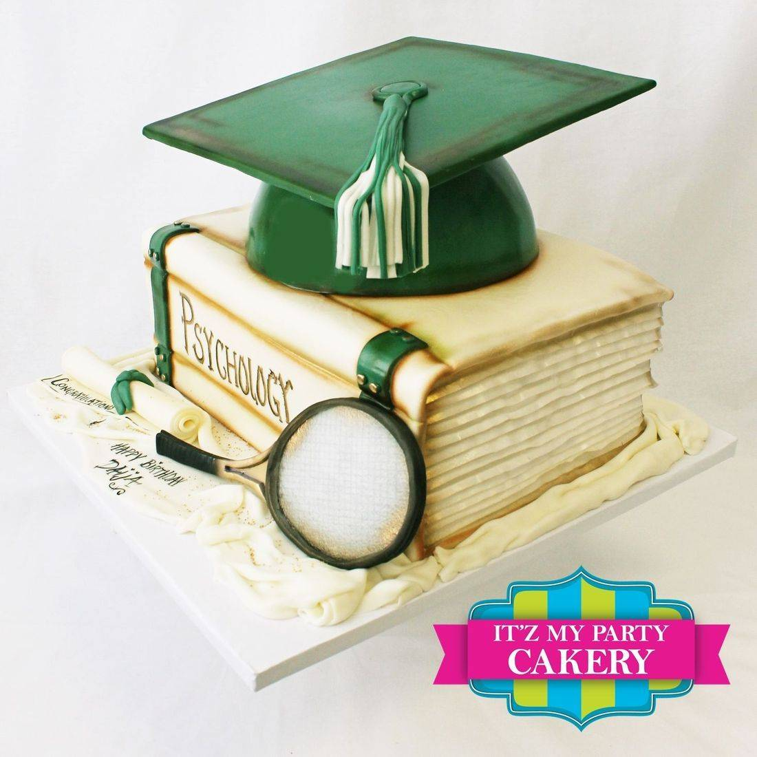 Graduation Book  Carved Dimensional Cake Milwaukee