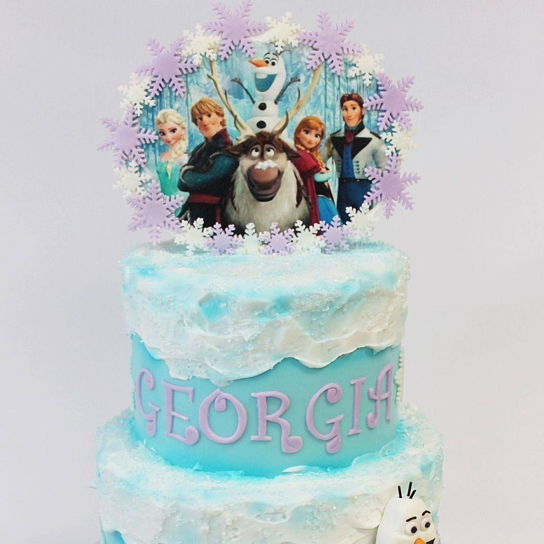 Custom  Frozen Themed Cake  Milwaukee