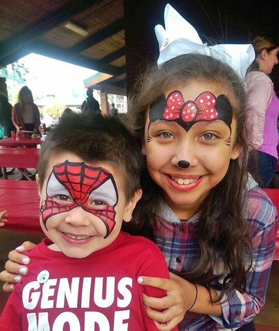 Face painting adds fun family entertainment to company events